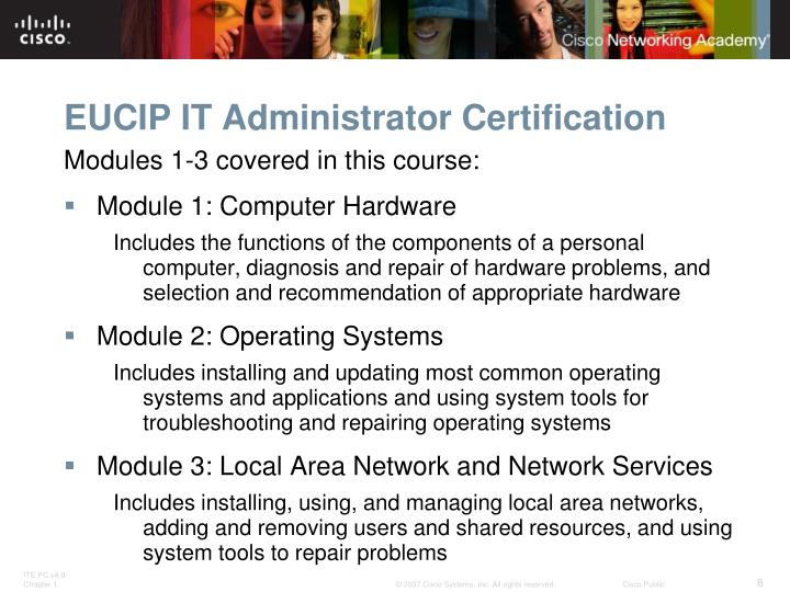 EUCIP IT Administrator Certification