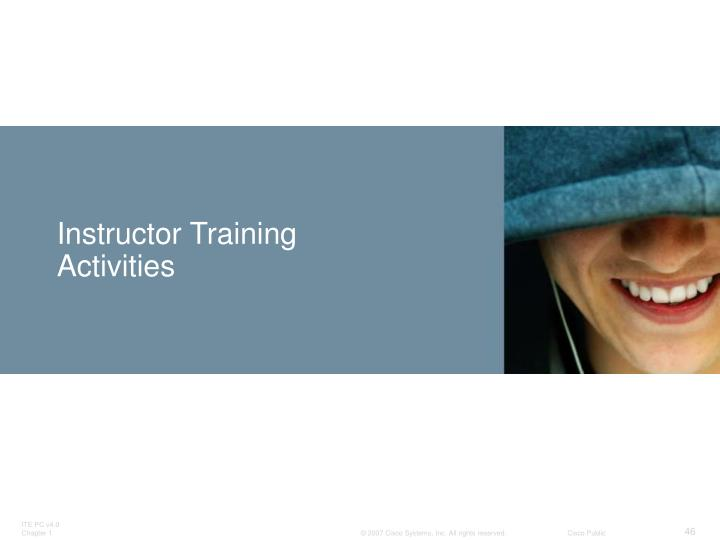 Instructor Training Activities