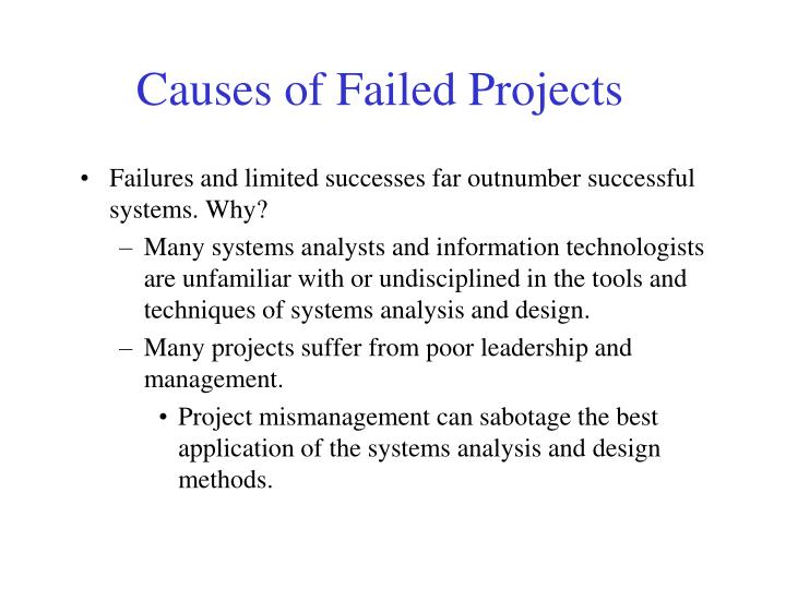 Causes of Failed Projects