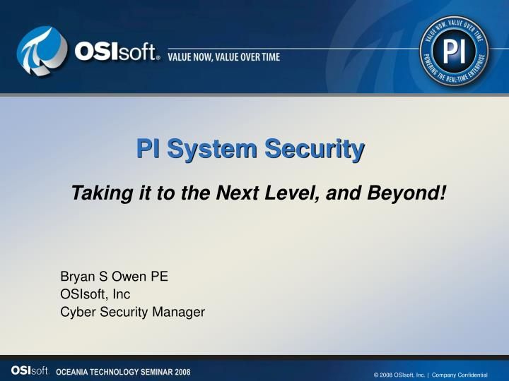 pi system security n.