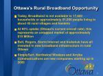 ottawa s rural broadband opportunity