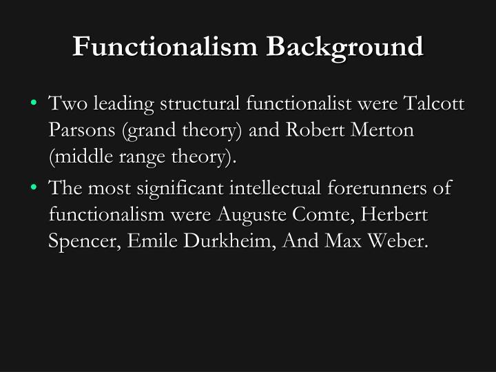 Functionalism Background