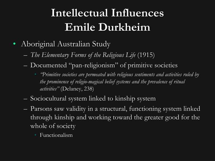 Intellectual Influences