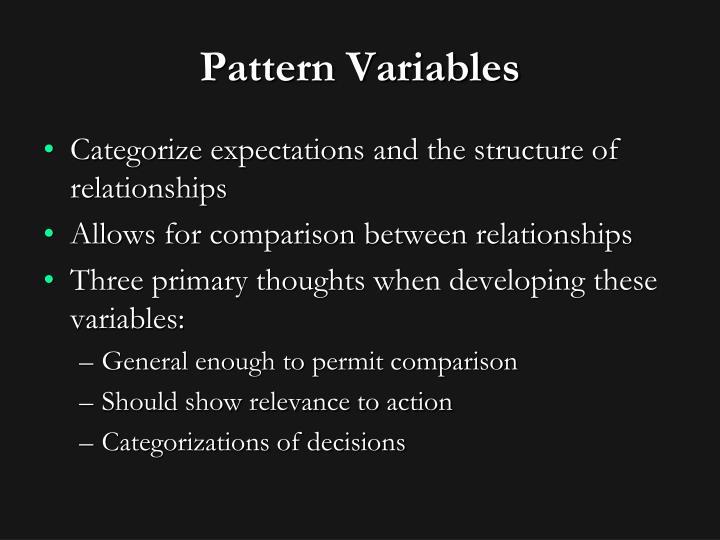 Pattern Variables
