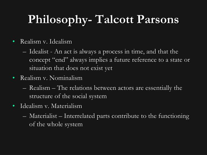 Philosophy- Talcott Parsons