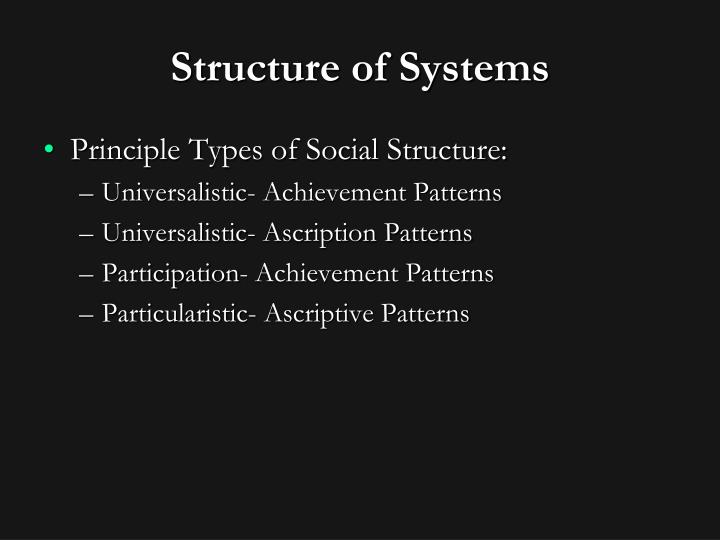 Structure of Systems