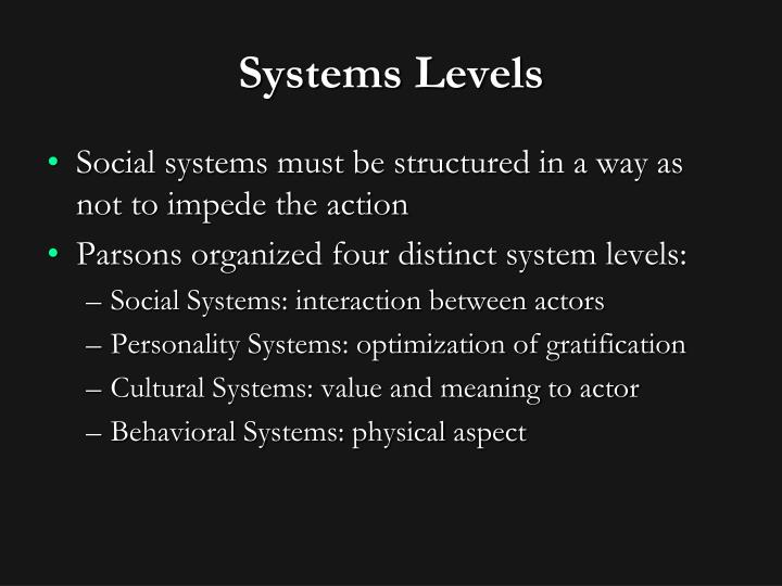 Systems Levels
