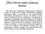onu informe sobre violencia familiar