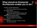 what should an enterprise architecture enable you to do1