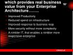 which provides real business value from your enterprise architecture