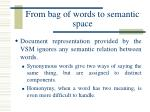 from bag of words to semantic space3