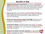 benefits of asq