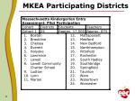 mkea participating districts