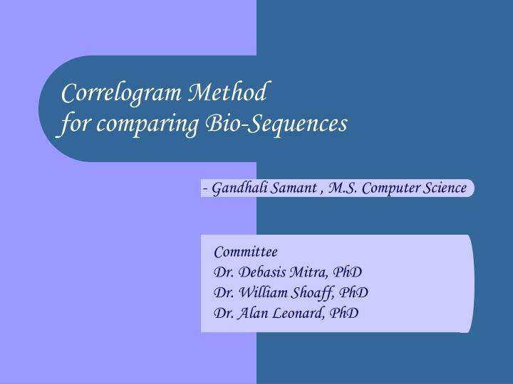 Correlogram Method