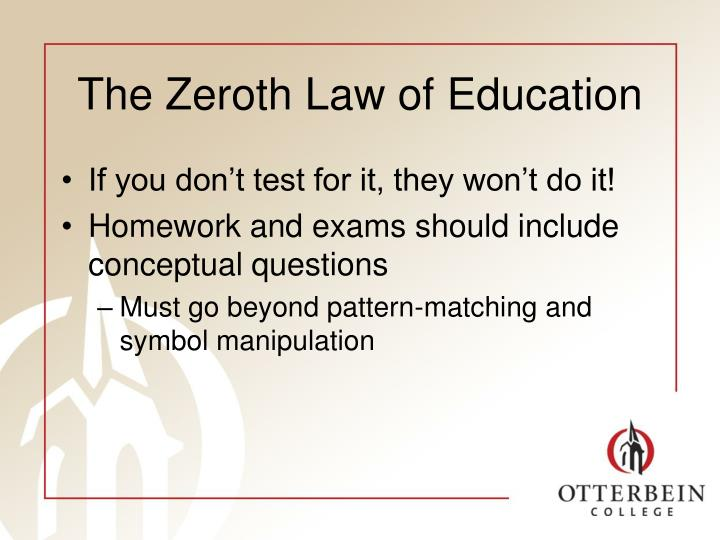 The Zeroth Law of Education