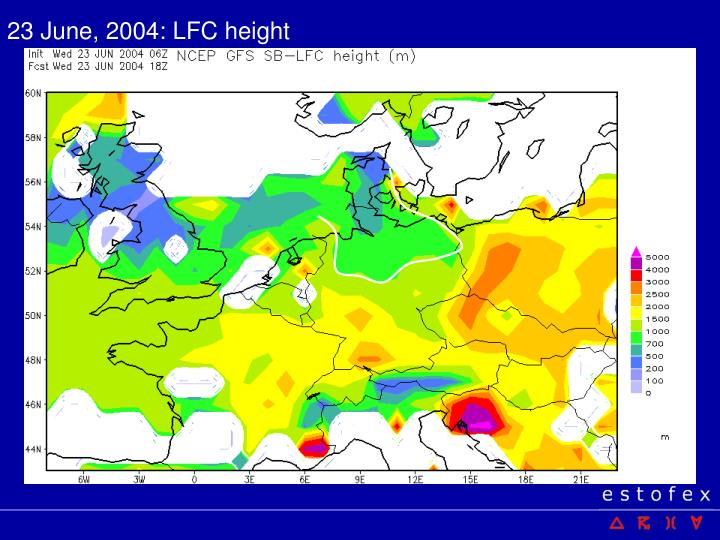 23 June, 2004: LFC height