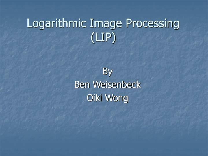 logarithmic image processing lip n.