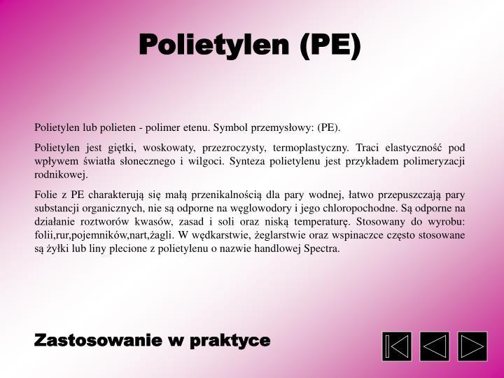 Polietylen (PE)