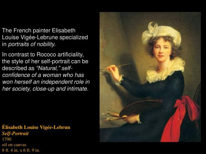 The French painter Elisabeth Louise