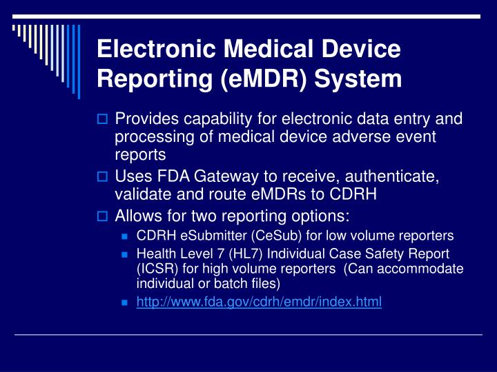 Electronic Medical Devices : Ppt medical device reporting and tracking powerpoint