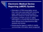 electronic medical device reporting emdr system2