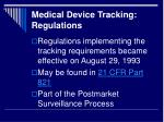 medical device tracking regulations