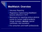 medwatch overview