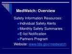 medwatch overview2