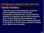 fda approved labeling for metoclopramide