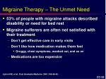 migraine therapy the unmet need