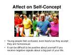 affect on self concept