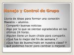 manejo y control de grupo4