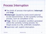 process interruption