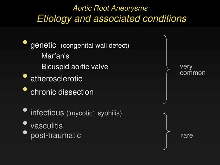 Aortic Root Aneurysms