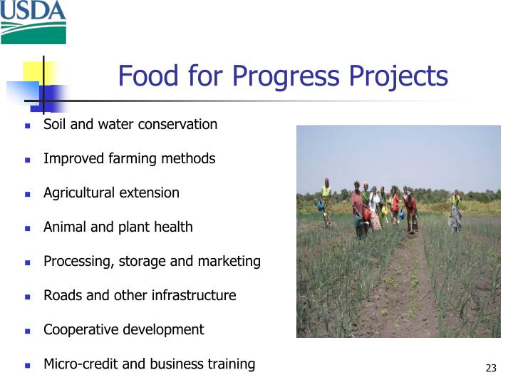 Food for Progress Projects