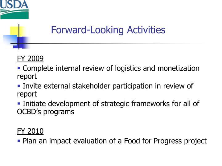 Forward-Looking Activities
