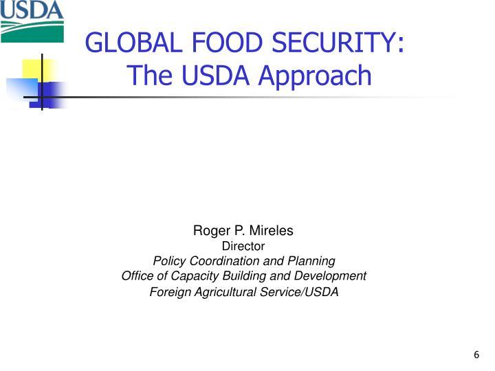 GLOBAL FOOD SECURITY: