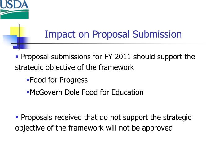 Impact on Proposal Submission