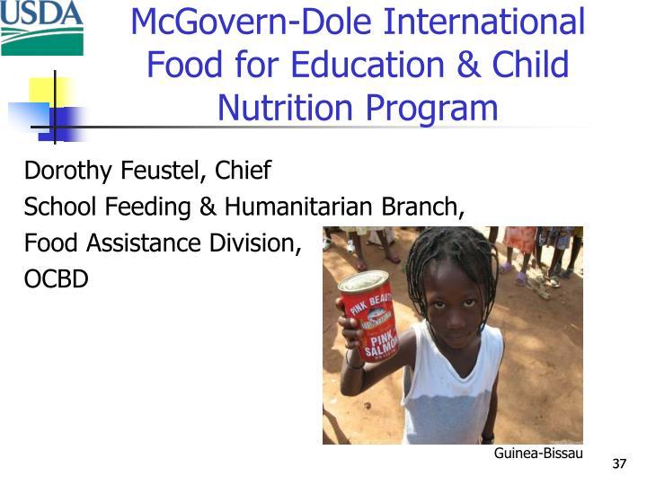 McGovern-Dole International Food for Education & Child Nutrition Program