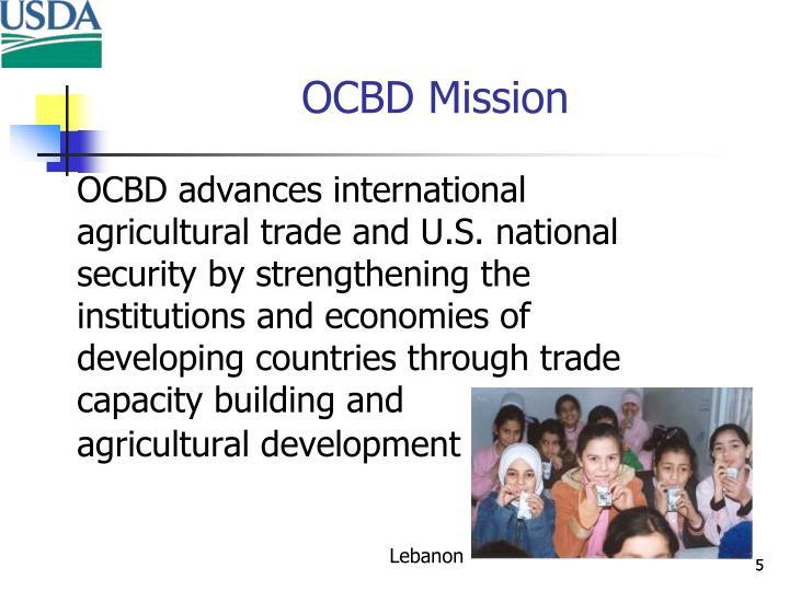 OCBD Mission