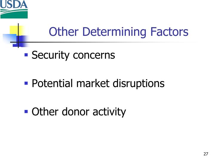 Other Determining Factors