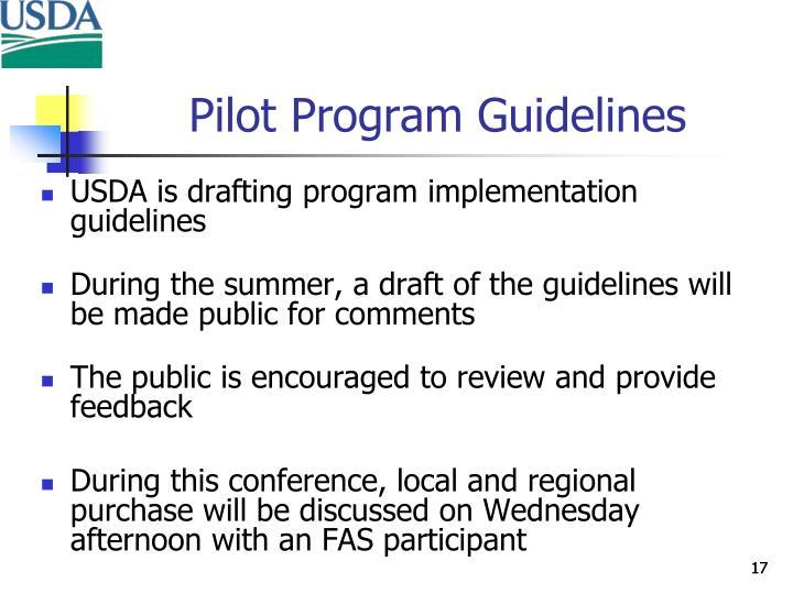 Pilot Program Guidelines