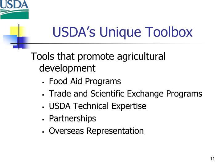 USDA's Unique Toolbox