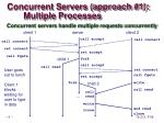 concurrent servers approach 1 multiple processes