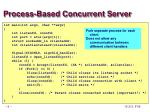 process based concurrent server