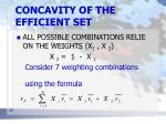concavity of the efficient set2