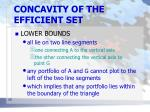 concavity of the efficient set7