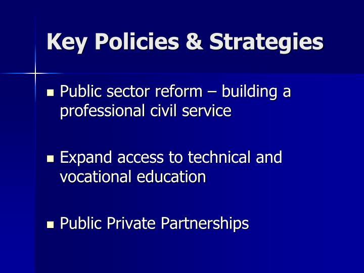 Key Policies & Strategies