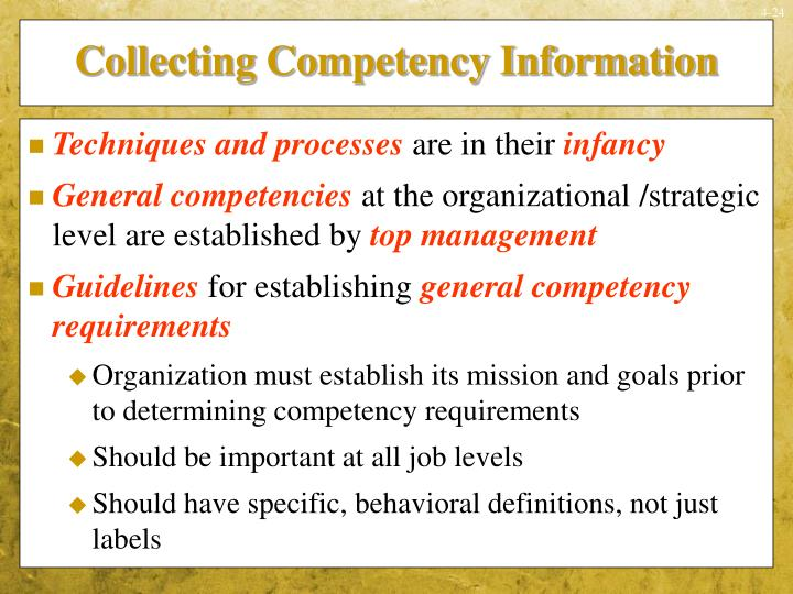 Collecting Competency Information