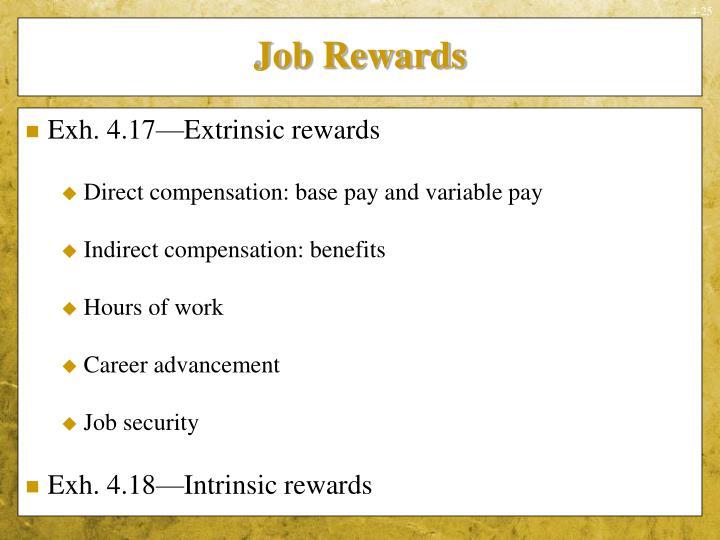 Job Rewards